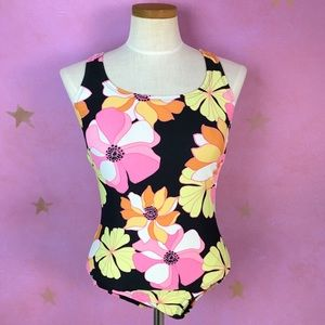 Speedo NWT Ultraback One Piece Floral Swimsuit